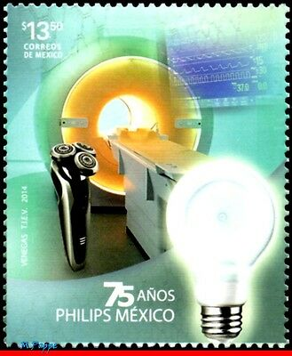 14-38 Mexico 2014 Philips In Mexico, 75Th Anniv., Lamp, Industry, Mnh