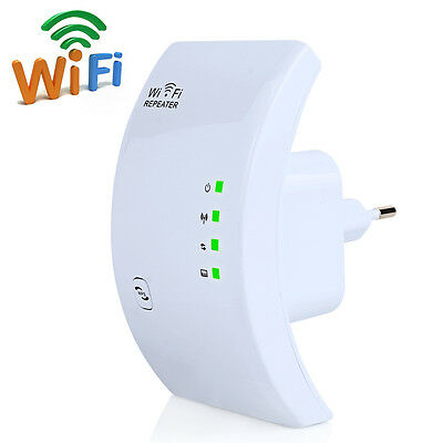 Wireless WiFi Repeater Signal Booster Extender PC Router Internet Long Range WPS