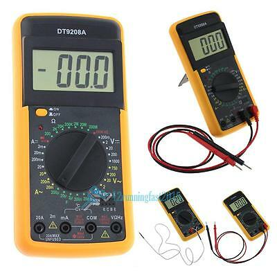 Digital AC DC Multimeter Voltmeter Tester Amperemeter + Test Lead Temperatur DE
