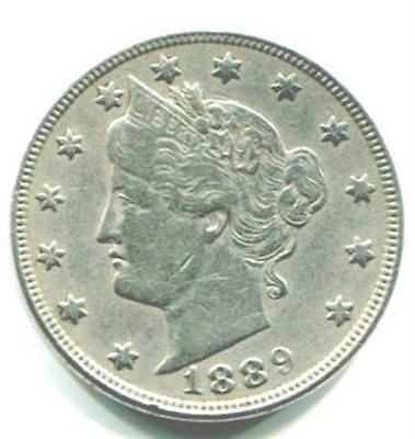 UNITED STATES. 1889 Liberty Nickel, 5 Cents.