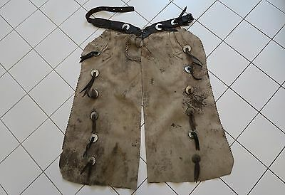 Vintage Antique Western Cowboy Leather Chaps Miles City Saddlery Co. Montana
