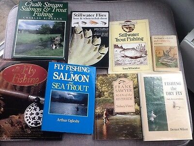 Job Lot of Fly Fishing Books  Trout ,Sea Trout, Salmon fishing.