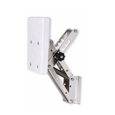 White Heavy Duty Stainless Steel Outboard Motor Bracket Up To 25hp CA Local