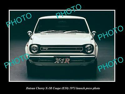 Old Large Historic Photo Of 1973 Cherry Datsun X-1R Coupe Launch Press Photo 2