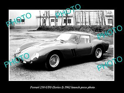 Old Large Historic Photo Of Ferrari 250 Gto Series 1 1962 Launch Press Photo 1