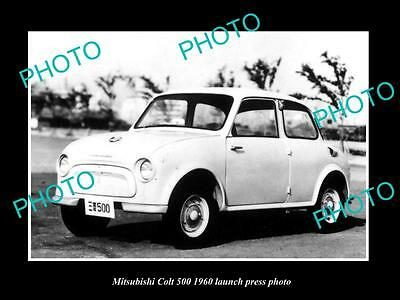 Old Large Historic Photo Of 1960 Mitsubishi Colt 500 Launch Press Photo