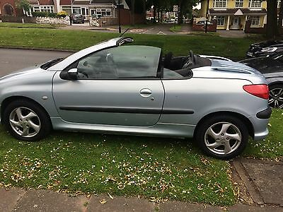peugeot 206 coupe petrol 1.6 silver