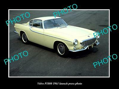 Old Large Historic Photo Of Volvo P1800 Model 1961 Launch Press Photo