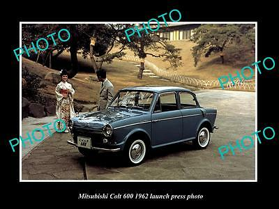 Old Large Historic Photo Of 1962 Mitsubishi Colt 600 Launch Press Photo