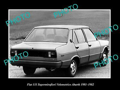 Old Large Historic Photo Of 1981 Fiat Abarth 131 Volumetrico Launch Press Photo
