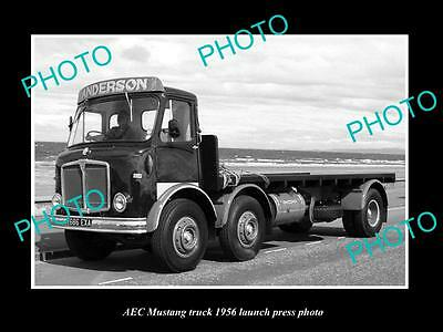Old Large Historic Photo Of 1956 Aec Mustang Truck Launch Press Photo