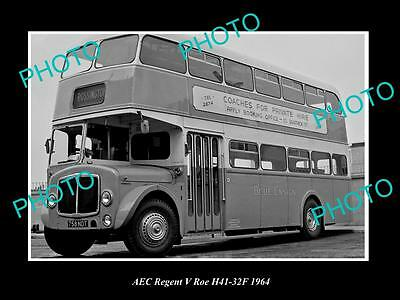 Old Large Historic Photo Of 1964 Aec Regent V Bus Launch Press Photo