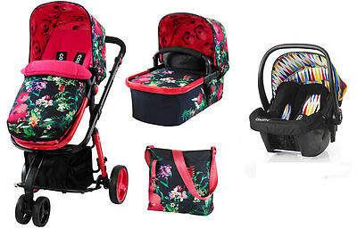 New Cosatto giggle 2 3 in 1 travel system in Tropico with go brightly car seat