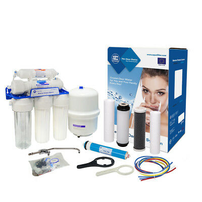 AquaFilter 5 Stage Reverse Osmosis System 75GPD for drinking water
