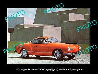 Old Large Historic Photo Of 1965 Vw Karmann Ghia Cv Type 14 Launch Press Photo 2