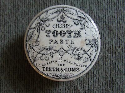 Pot-Lid  CHERRY TOOTH PASTE for Cleansing & Preserving the Teeth & Gums.-dug up!