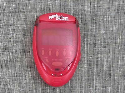 Radica LIGHTED POKER Hand Held Electronic Video Game Red Flip Top 2003 /J7