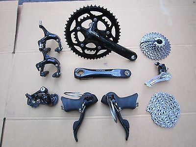 SHIMANO SORA 9 SPEED GROUPSET.175mm 50/34,11-25.BARELY USED.EX COND.COST$450