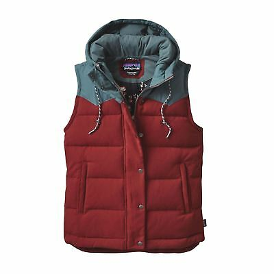Patagonia Women's Down Insulated Bivy Hooded Vest - Drumfire Red (X-Large Only)