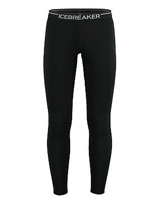Icebreaker Men's Oasis Merino Base Layer Leggings - Black