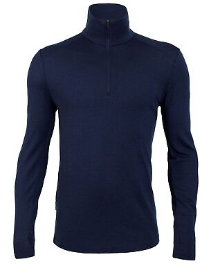 Icebreaker Men's Tech Top L/Sleeve Half-Zip Merino Base Layer - Admiral