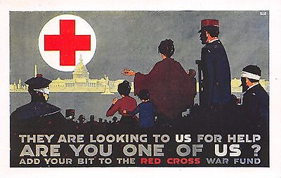 "C2706) Ww1, Croce Rossa Americana ""they Are Looking To Us For Help..."""