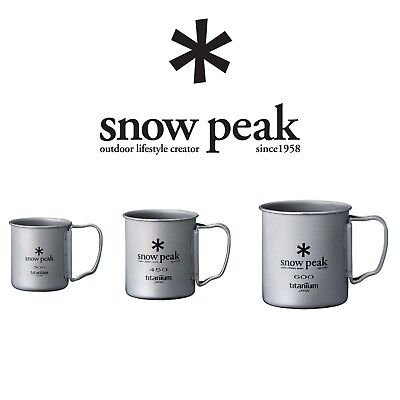 Snow Peak Titanium Single Wall Cup w/ Folding Handle