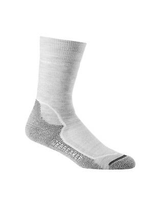 Icebreaker Women's Hike+ Medium Cushion Merino Crew Sock - BDH/WHT/OIL