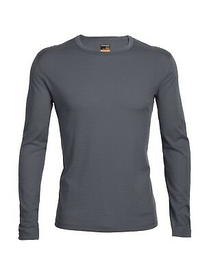 Icebreaker Men's Oasis Base Layer L/Sleeve Crewe Merino Shirt - Monsoon