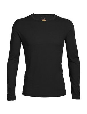 Icebreaker Men's Oasis Base Layer L/Sleeve Crewe Merino Shirt - Black