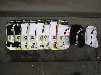 11 PAIRS x DEFEET AIREATOR CYCLING SOCKS.NEW COND.SIZE LARGE.COST$165NEW!!