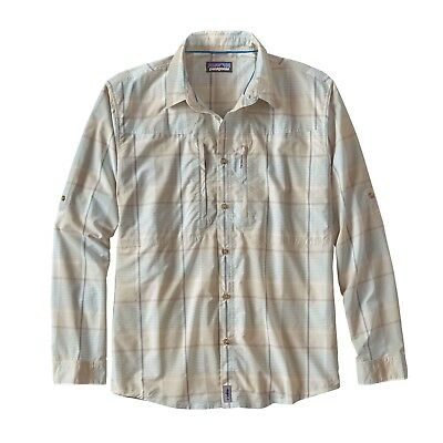 Patagonia Men's Long Sleeved Sun Stretch Shirt BackCast: Bleached Stone