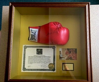 Muhammad Ali Signed Glove In Display Case