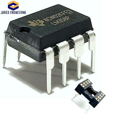 5PCS Texas Instruments LM358P LM358N + Sockets Dual Operational Amplifier New IC
