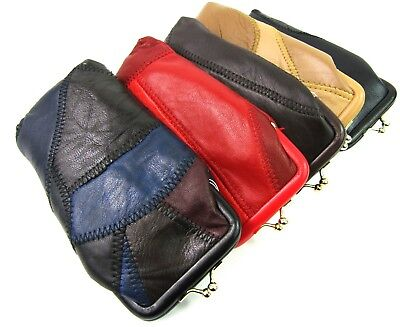 Unisex Soft Genuine Leather Glasses Case Holder Sunglasses Case Protector Pouch