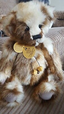 """Charlie Bear 'tickle' 12"""" Hard To Find Designed By Heather Lyell Mint Cb630310D"""