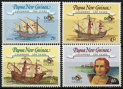 Papua New Guinea 1992 Discovery of America by Columbus Ships MNH