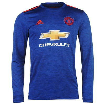 adidas Manchester United 2016/2017 Away LS Football Shirt Top Jersey Mens Medium