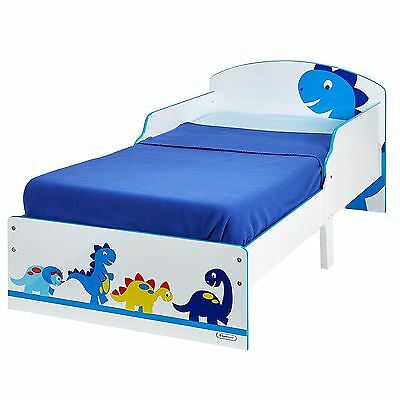 Dinosaurs Toddler Junior Bed Childrens Kids Easy To Assemble + Mattress Options