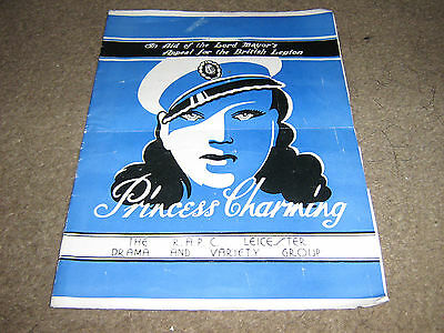 Rare The R.a.p.c. Leicester Drama And Variety Group British Legion Programme