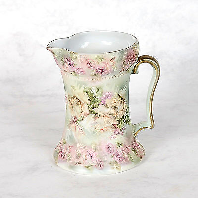 """Royal Bayreuth """"rose Tapestry"""" Milk  Pitcher - Ca. Early 1900's"""