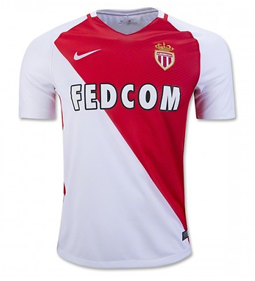 AS Monaco Home Shirt 2016-17 Personalised Name/Number Available