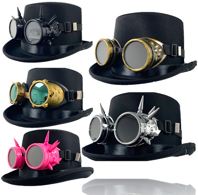 Adults Steampunk Victorian Gothic Halloween Fancy Dress Top Hat Accessory