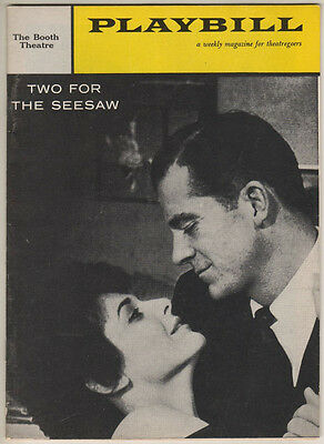 """Playbill """"Two For The Seesaw"""" 1959  Anne Bancroft & Dana Andrews"""