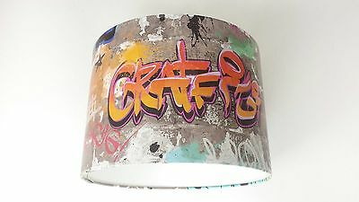 New Graffiti Multicolour , Wallpaper LAMPSHADE..Handmade... Fine Decor..