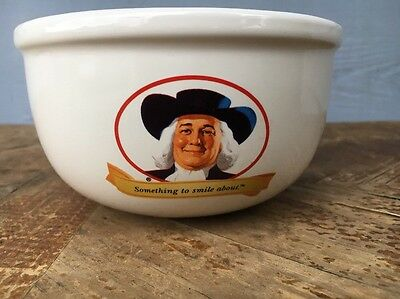The Quaker Oats Company Ceramic Oatmeal Bowl Something To Smile About 2006
