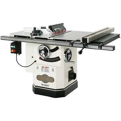 """SHOP FOX W1819—10"""" 3 HP Cabinet Table Saw with Riving knife - Free Shipping"""