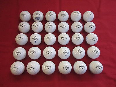 30 Callaway Supersoft Golf balls - Pearl / Grade A