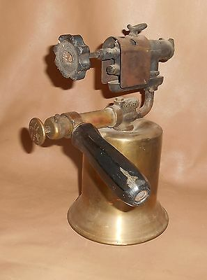 Antique The Turner Brass Works Plumbers Soldering Pipe Fitting Torch Sycamore lL