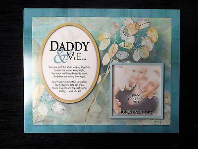 Daddy & Me Photo Mount Print With A Beautiful Verse Family & Friends Gift Frames
